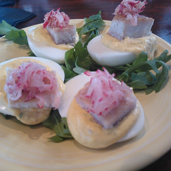 Devilled eggs & smoked whitefish - Post & Beam, Los Angeles, CA