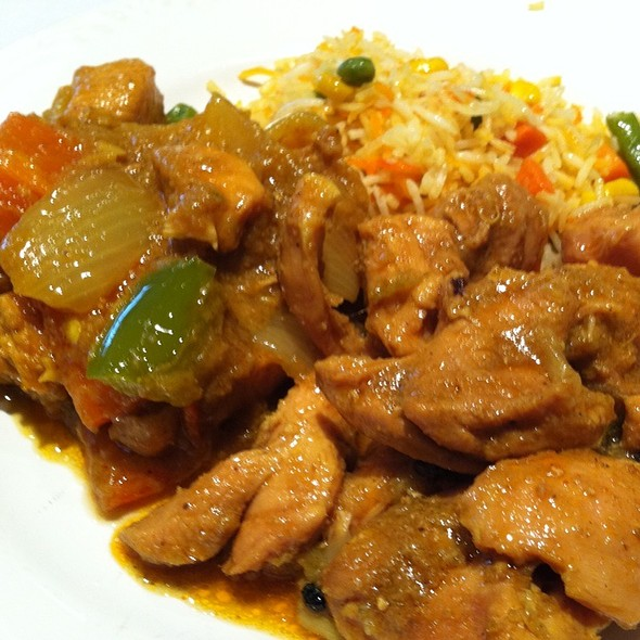 Chicken Curry, Chicken Karahi And Vegetable Palau - Nirvana Fine Indian Restaurant, Wilmington, DE