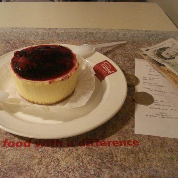 Morello Cherry Cheesecake - Ponti's Italian Kitchen - John Princes Street, London
