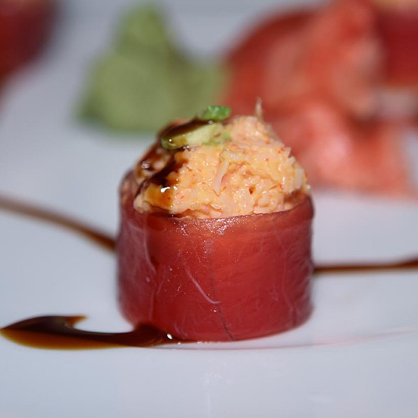 sashimi stuffed with crabmeat - Nabuki, Hinsdale, IL