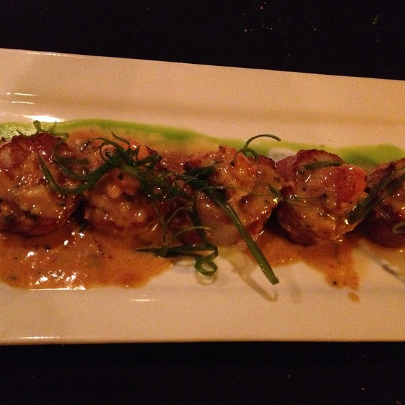 Pan Roasted Prosciutto Wrapped Day Boat Scallops with Lobster-Red Curry Sauce - Maxwells, West Fargo, ND