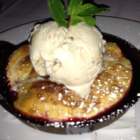 Hot Blackberry Cobbler With Vanilla Bean Ice Cream - Eddie V's - Dallas, Dallas, TX