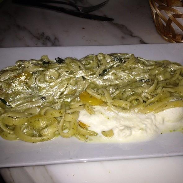 Fettucine With Pesto And Burrata - Trattoria Zero Otto Nove, New York, NY