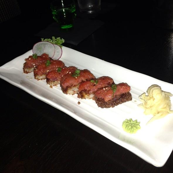 Crispy Rice with Spicy Tuna - Izakaya Fu-Ga, Los Angeles, CA