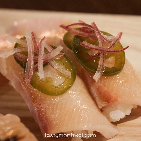 hamachi toro nigiri sushi - Park Restaurant, Montreal, QC