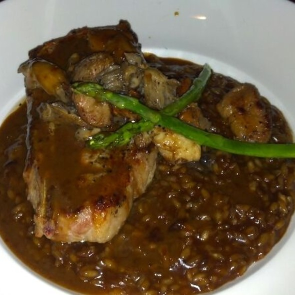 Braised Veal Breast With Mushroom Risotto And Madeira Wine Sauce - Tastings - A Restaurant, Wine Shop & Wine Bar, Charlottesville, VA