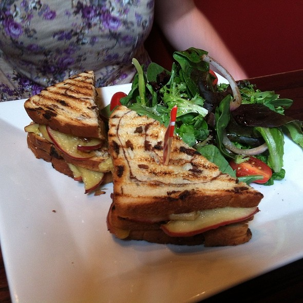 Melted Brie and Apples Sandwich w/ Fries - Teca Restaurant & Wine Bar, West Chester, PA