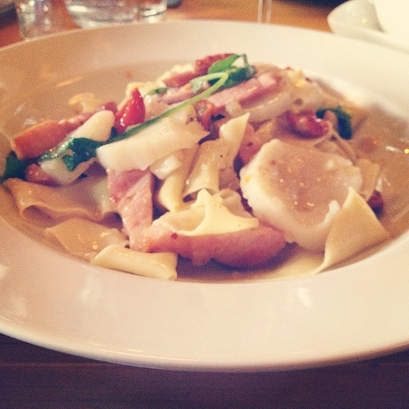 Pappardelle With Scallops, Bacon And Sundried Tomatoes  - Nordeen, Toronto, ON