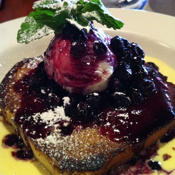Brioche And Blueberry Dessert - City Cellar Wine Bar & Grill - West Palm Beach, West Palm Beach, FL
