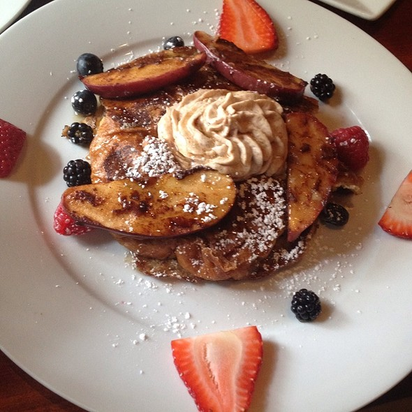 Cinnamon Apple Croissant French Toast  - Mixto, Philadelphia, PA