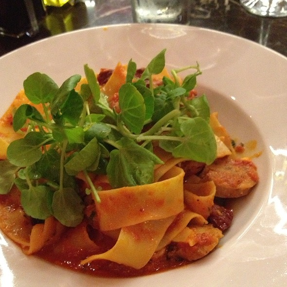 Pappardelle with Sausage - Caffe Concerto Kensington, London