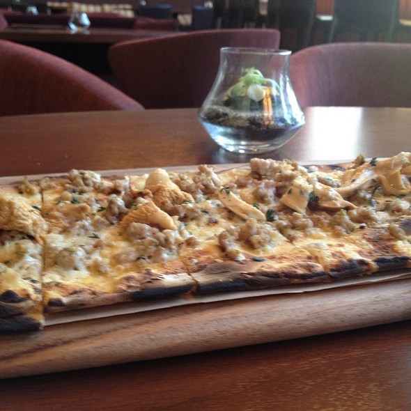 Fennel Sausage Flatbread - OneUP Restaurant & Lounge at Grand Hyatt San Francisco, San Francisco, CA
