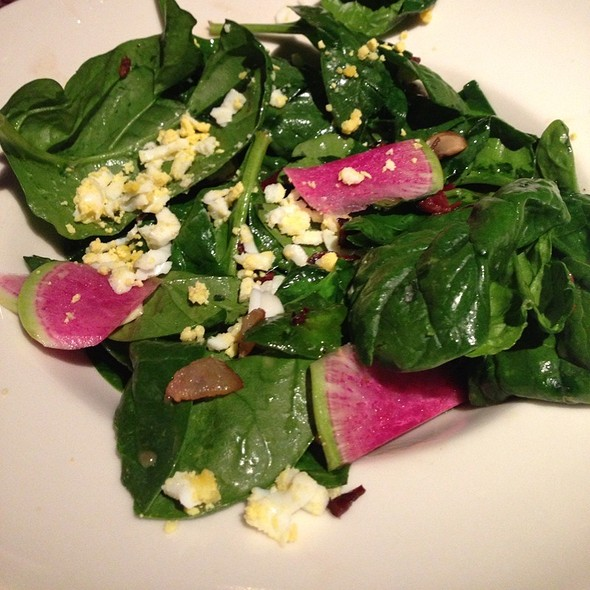 Spinach Salad - Sea Change at Chez Melange, Redondo Beach, CA