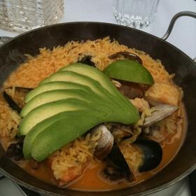 California Paella - Pacifica Seafood Restaurant, Palm Desert, CA