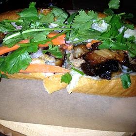 Pork Belly Sandwich - Bacchus Bar and Bistro, Irvine, CA