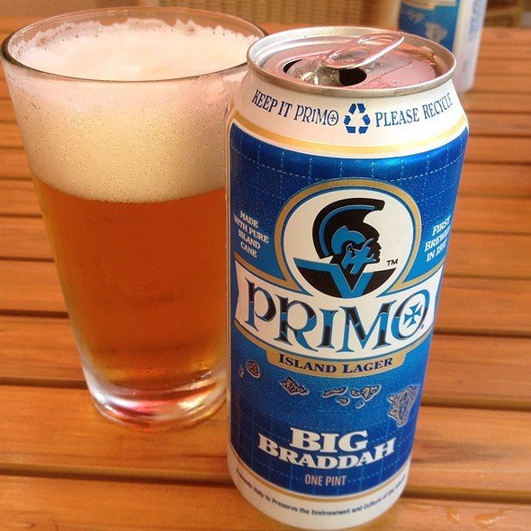 Primo Beer - Tiki's Grill & Bar - Waikiki, Honolulu, HI