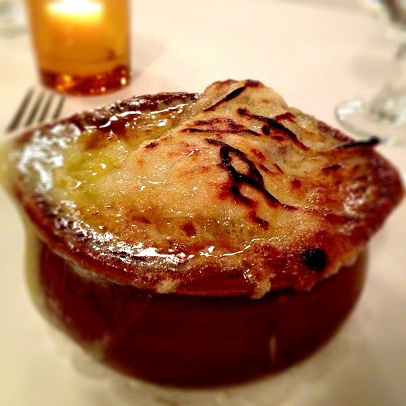French Onion Soup - Le Midi Bar & Restaurant, New York, NY