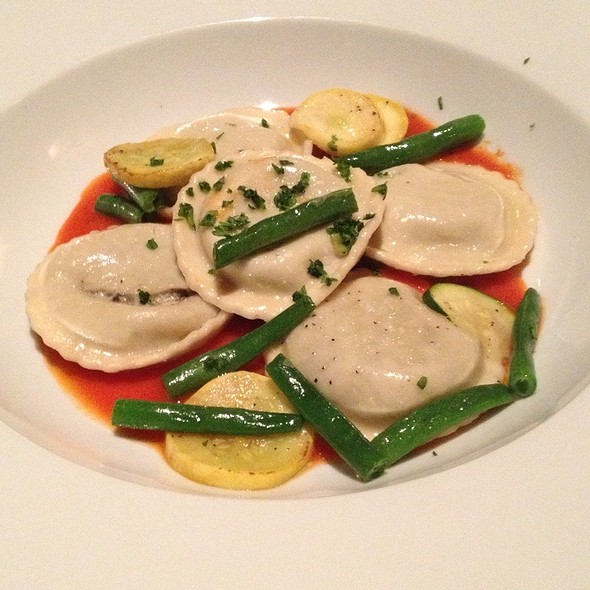 Vegetable Ravioli With Ratatouille Sauce - French Market Grille, San Diego, CA