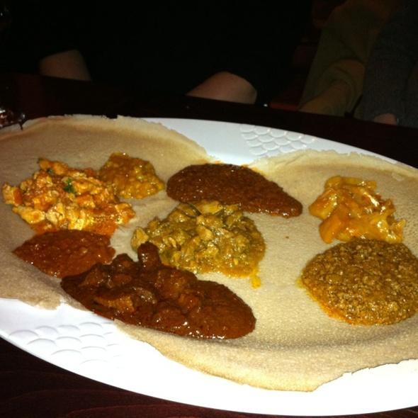 Meat Sampler - Mesob Ethiopian Restaurant, Montclair, NJ