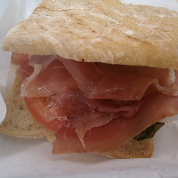 Parma Sandwich w/ tomato & basil - Nundini Chef's Table, Houston, TX