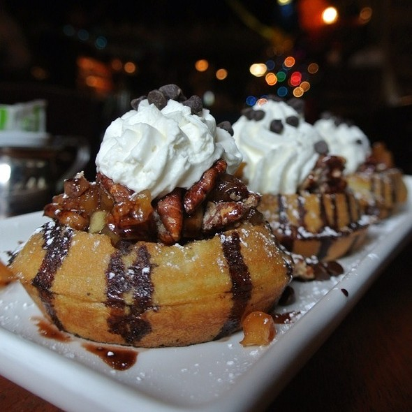 Chocolate Chip Waffles - White Dog Cafe - University City, Philadelphia, PA