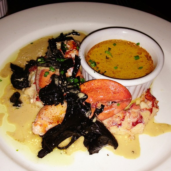 Maine Lobster With Black Trumpets And Butter - Fore Street, Portland, ME
