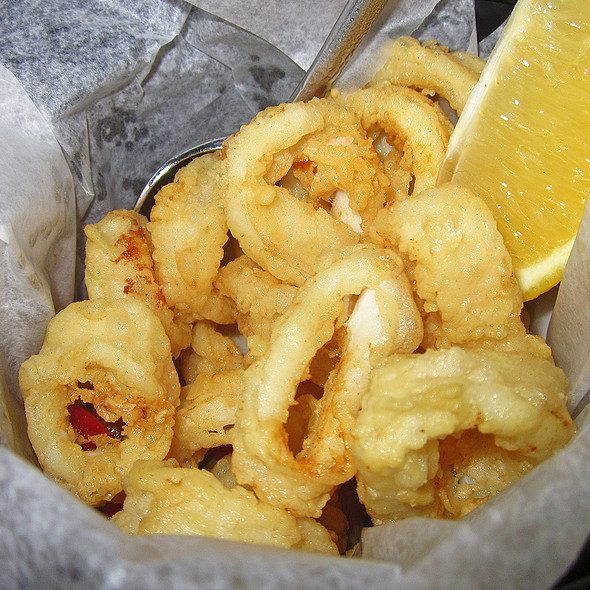 Fried Calamari & Cherry Peppers - Sotto 13, New York, NY