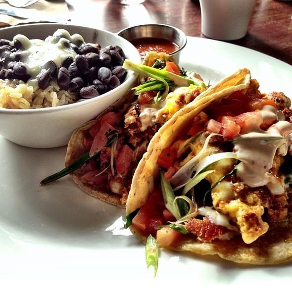 Soy Chorizo Breakfast Tacos - Isabel's Cantina, San Diego, CA