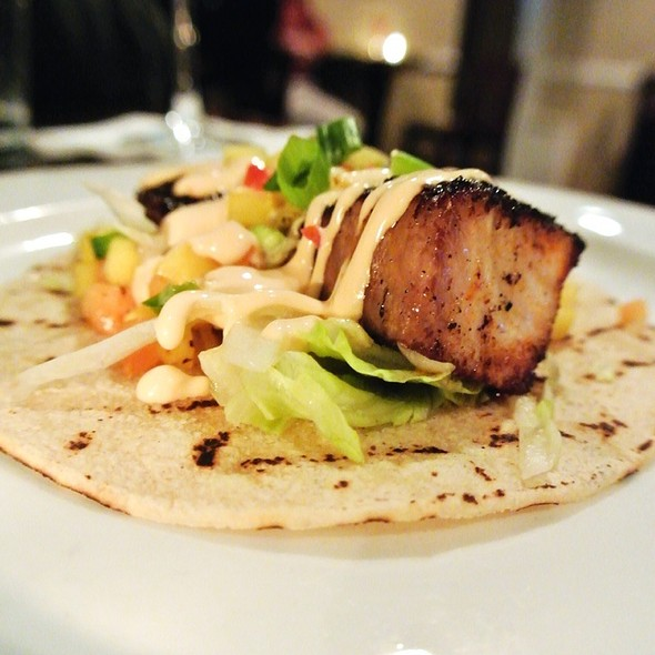 Blackened Cobia Taco - Creed's Seafood & Steaks, King of Prussia, PA