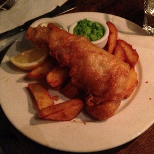 Fish (Beer Battered Haddock) And Chips (1/2 Portion) - The Bull & Last, London