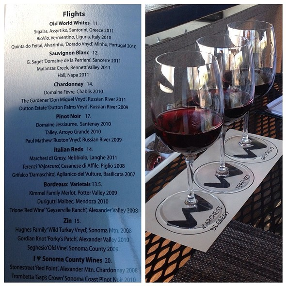 Wine Flight - Willi's Wine Bar, Santa Rosa, CA