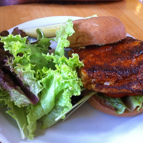 Blackened Chicken Sandwich - Market Fresh Bistro, Makawao, HI