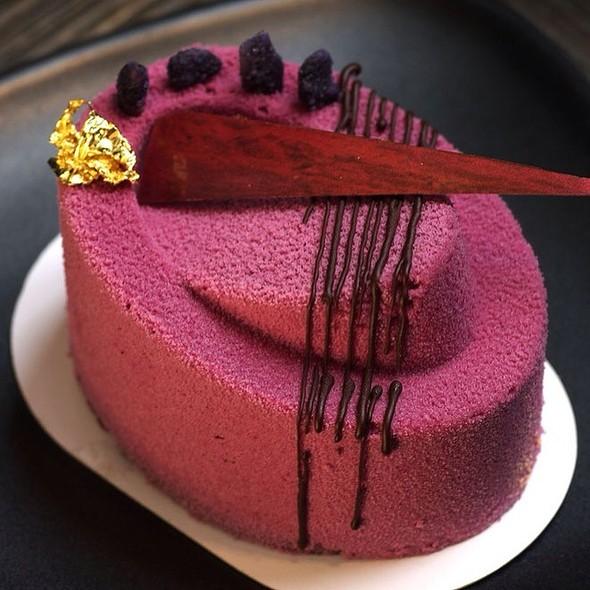 Raspberry chocolate Mousse cake - Yauatcha Soho, London