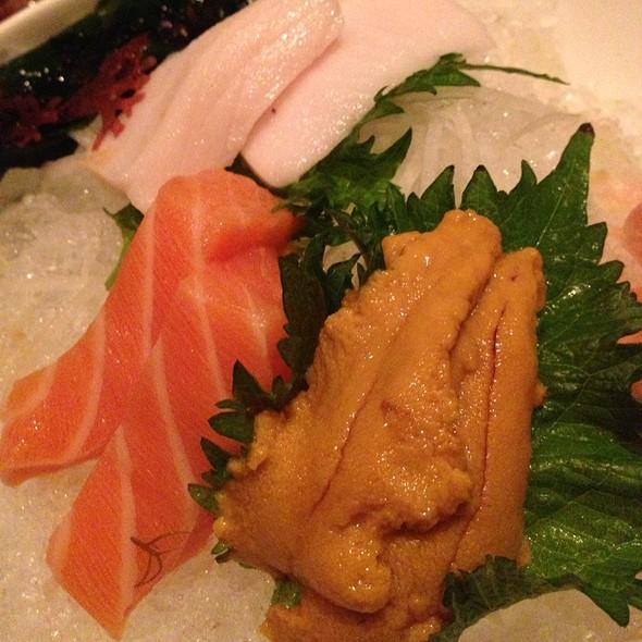 Shiro, Salmon, Sea Urchin Sashimi - Rise Sushi & Sake Lounge, Chicago, IL