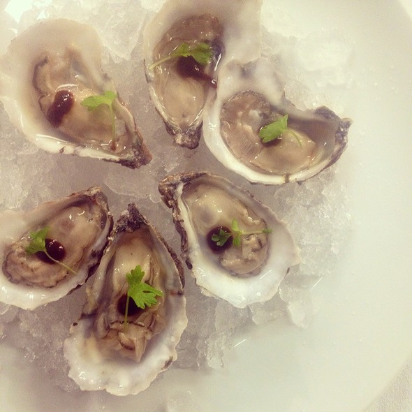 Chincoteague Oysters With Housemade Worcestershire Sauce - Restaurant Eve, Alexandria, VA