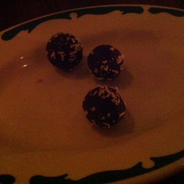 Chocolate Truffles - Miranda Restaurant, Brooklyn, NY