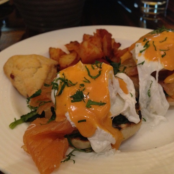 Eggs Benedict With Citrus Cured Salmon - North Square, New York, NY