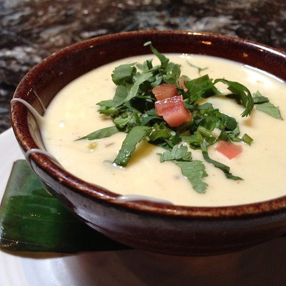 Queso Poblano ~ Mexican Cheeses• Wood-Roasted Poblano Peppers • Corn • Nopalitos   - Meso Maya - Preston Forest, Dallas, TX