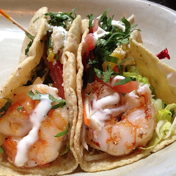 Garlic Adobo White Shrimp • Jicama Slaw • Tomatoes • Mango • Crema • Queso Fresco - Meso Maya - Preston Forest, Dallas, TX