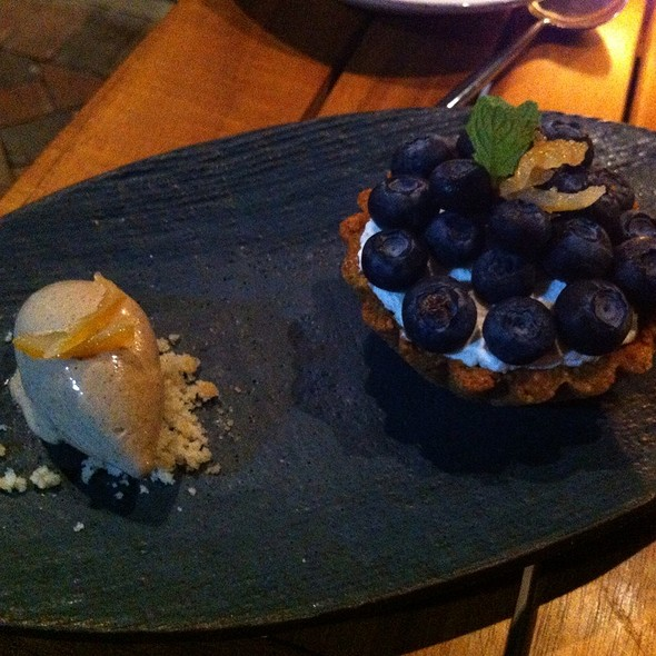 Lemon & Blueberry Tart With Earl Grey Ice Cream - The Grove, Delray Beach, FL