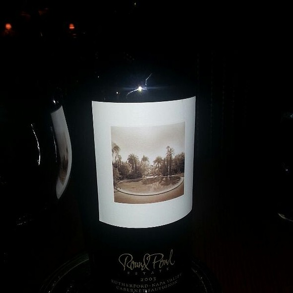 Round Pond Cabernet - The Pluckemin Inn, Bedminster, NJ