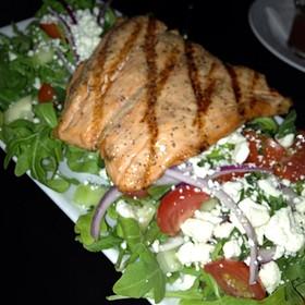 Fattoush With Salmon - The Pot Au Feu, El Paso, TX