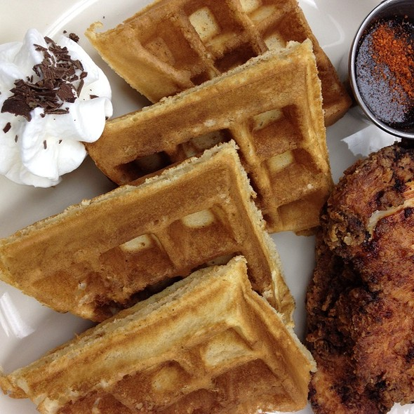 Fried Chicken and Waffles - Crown Restaurant & Lounge, Palisades Park, NJ