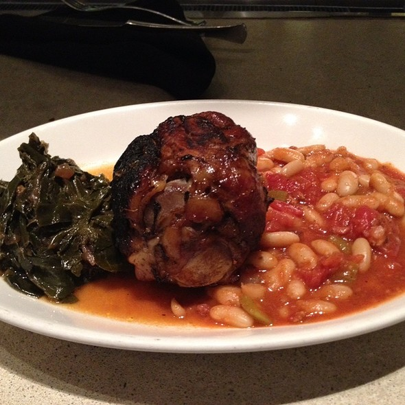 Pork Shank With Cannelli Beans And Collard Greens - Kora restaurant - bar - lounge, Arlington, VA