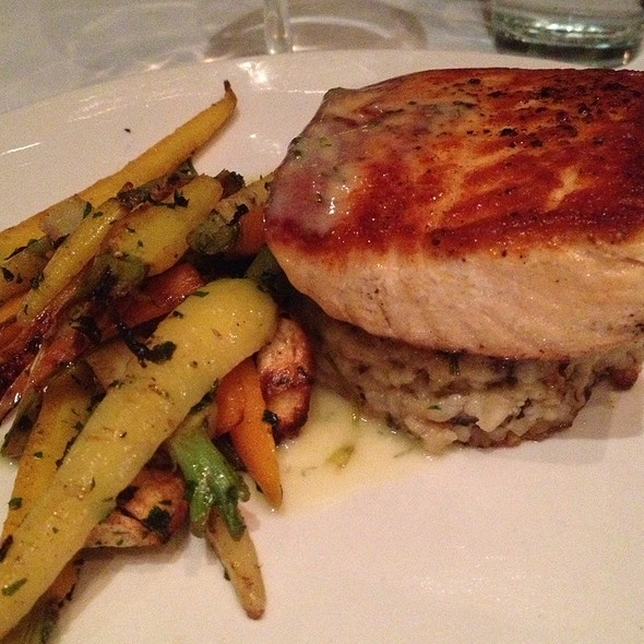 Salmon With Mushroom Risotto Cake - Redwood, Bethesda, MD