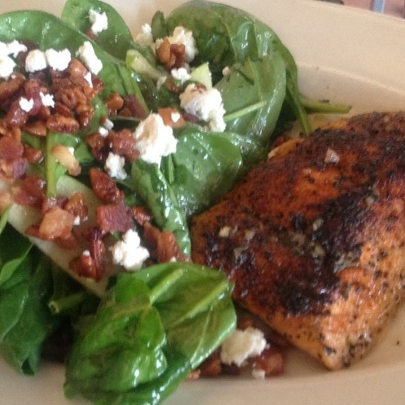 Warm Spinach Salad With Salmon - Mitchell's Fish Market - Winter Park, Winter Park, FL