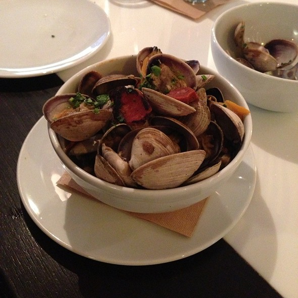 Steamed Manila Clams w/ Chorizo - Flying Fish, Seattle, WA