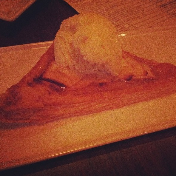 Apple Frangipani Tart, Lavender Ice Cream - Serrano, Philadelphia, PA