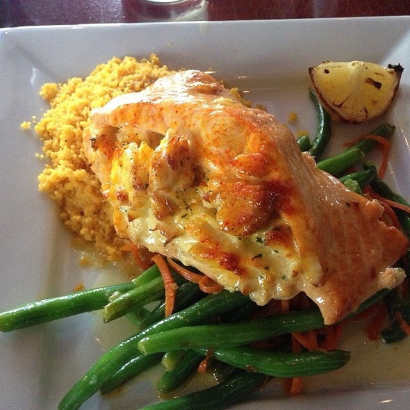 Crab Stuffed Salmon - McLoone's Pier House - National Harbor, National Harbor, MD