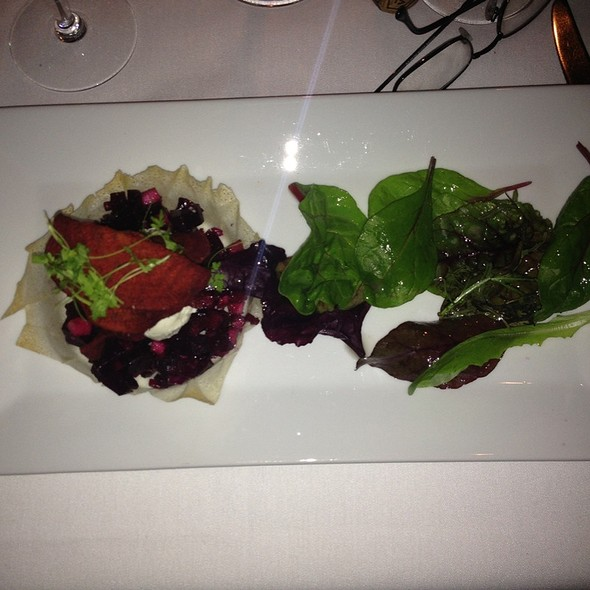 Beet And Honey Goat Cheese - Mirabelle Restaurant, Avon, CO